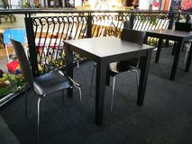 Empty table and chairs. Empty table and chairs, Furniture, Restaurants Royalty Free Stock Image
