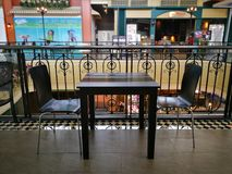 Empty table and chairs. royalty free stock images