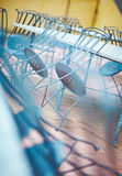 An empty table and chairs. In a small cafe Royalty Free Stock Images