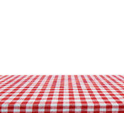 Empty table isolated on white background - use for your photomontage or product display Royalty Free Stock Photos