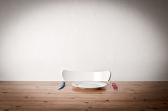 Empty table make ready Royalty Free Stock Photography