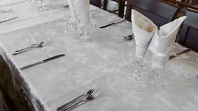 Empty Table  stock video footage