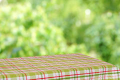 Empty table in the summer garden. Royalty Free Stock Photography