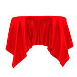 Empty Table with Tablecloth Royalty Free Stock Photography