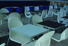 Empty Tables. Photograph taken of empty tables a the food court at West Lakes (Adelaide, Australia royalty free stock photography