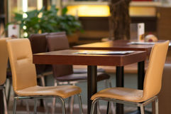 Empty tables in cafe Royalty Free Stock Photo