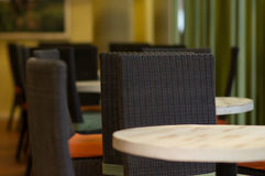 Empty tables in cafe Royalty Free Stock Photography