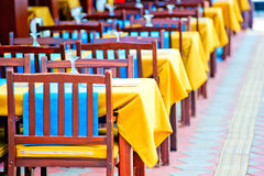 Empty tables at the cafe Stock Photography