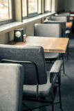 Empty tables and chairs in restaurant Royalty Free Stock Photos