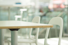 Empty tables on food zone in mall Royalty Free Stock Photography