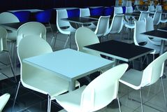 Empty Tables at West Lakes. Photograph taken of empty tables a the food court at West Lakes (Adelaide, Australia Royalty Free Stock Photos