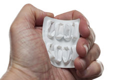 Empty tablets packet Royalty Free Stock Photo