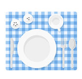 Empty tableware set Royalty Free Stock Images
