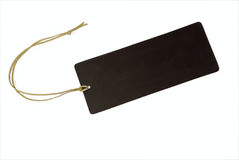 Empty tag amarrado com corda Fotografia de Stock