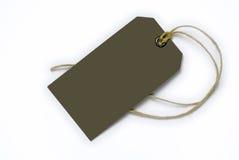 Empty tag atado con la cadena Fotos de archivo libres de regalías