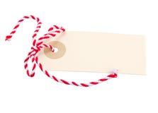 Empty tag com curva vermelha Fotos de Stock