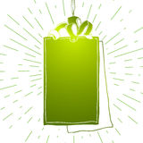 Empty tag Green icon illustration Royalty Free Stock Images