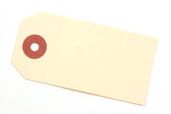 Empty tag over a white background Royalty Free Stock Photos