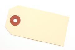 Empty tag sobre un fondo blanco Fotos de archivo libres de regalías