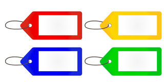 Empty Tags in Different Colours Stock Images
