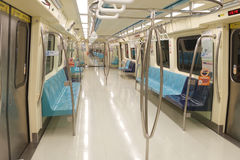 Empty Taipei Metro Car Royalty Free Stock Photography