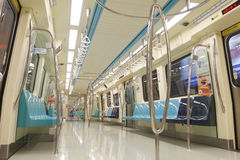 Empty Taipei Metro Car Stock Image