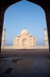 Empty Taj Mahal Gateway Silhouette Stock Images