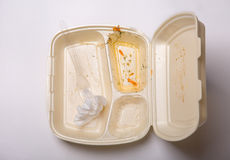 Empty takeout food box Royalty Free Stock Photo