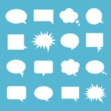 Empty talk bubble set. Speech bubbles for messenger, text message to communicate, comic books, comics and cartoons design. Vector flat style cartoon Royalty Free Stock Image