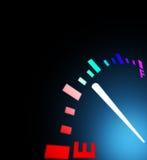 Empty tank. Illustration of fuel gauge on car Stock Images