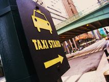 Empty taxi stand Stock Photography