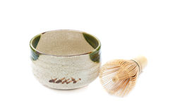 Empty tea cup japan with whisk. Stock Image