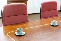 Empty tea cup in meeting room Stock Photo