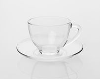 Empty tea cup and saucer Stock Image