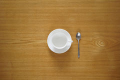 Empty tea cup from top view Stock Image