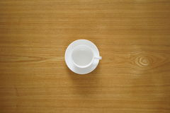 Empty tea cup from top view useful as a background Royalty Free Stock Photo