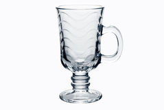 Empty tea glass isolated Royalty Free Stock Photography