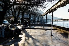 Empty Tea House At Winter Day - Turkey. Empty tea house in the daytime of Cinarcik town which is the district of Yalova city that is two hours away from the big stock photos