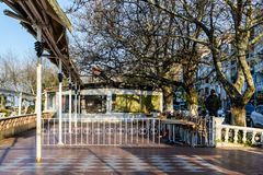 Empty Tea House At Winter Day - Turkey. Empty tea house in the daytime of Cinarcik town which is the district of Yalova city that is two hours away from the big stock images