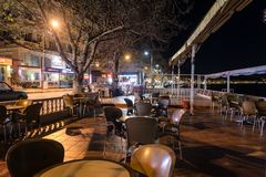 Empty Tea House At Winter Night - Turkey. Empty tea house in the night of Cinarcik town which is the district of Yalova city that is two hours away from the big Royalty Free Stock Photos