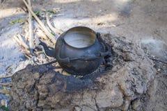 Empty tea kettle. Stock Photo