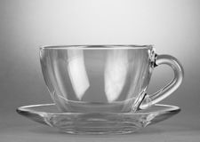 Empty tea saucer cup Royalty Free Stock Images