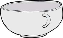 Empty Teacup. Single empty teacup illustration over white background Royalty Free Stock Photos