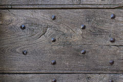Empty template aged wood with rustic old nail texture as abstrac Royalty Free Stock Image