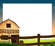 An empty template with a barnhouse and a fence Stock Image