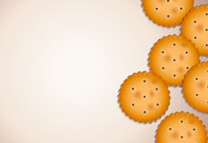 Empty template with biscuits Royalty Free Stock Image