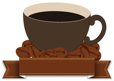 An empty template with a cup of coffee Stock Photography