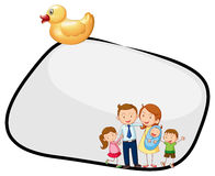 An empty template with a family and a rubber duck Royalty Free Stock Image