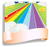 An empty template in front of the colorful road Stock Photos