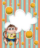 An empty template with a monkey and burgers Royalty Free Stock Photography